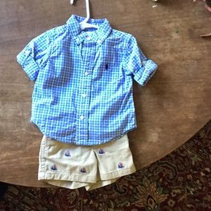 Never been worn Infant boy Ralph Lauren set